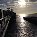 RT @BillRandallBHCC: Brighton Pier in winter sunshine at 1pm high tide today http://t.co/UY9Z8GPm0J
