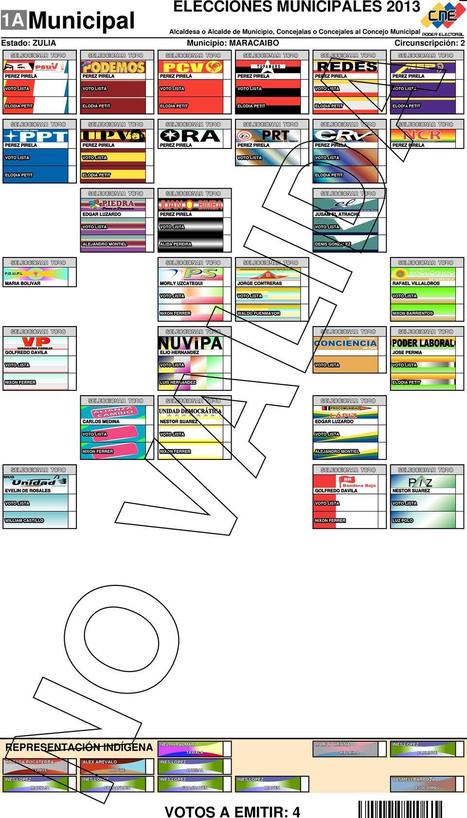 RT @noticiaaldia: Esta es la boleta electoral para la parroquia Manuel Dagnino  #8D #Zulia @noticiaaldia http://t.co/6FCP4VNmnz