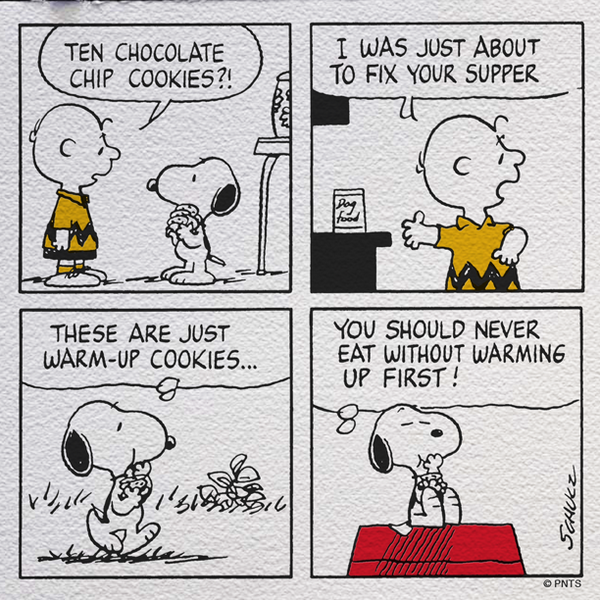 An afternoon snack with Snoopy and Charlie Brown. http://t.co/THoyxLGJqL