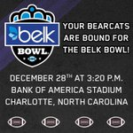 RT @GoBEARCATS: The #Bearcats are headed back to the @belkbowl! http://t.co/EZh6s8gjfI