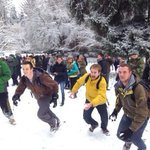 All funny till someone puts out an eye MT @ChrisPietsch: giant snowball fight at UO involving 100s. Lots of laughing. http://t.co/ilCXT22JYK