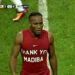 Legend Didier Drogba paying tribute 2 Nelson Mandela at final whistle of tonights Galatasaray game #Legend #Madiba http://t.co/uHKVfjF050