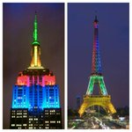 #Mandela The worlds capitals were lit up in South African colours last night in celebration of Madiba http://t.co/f5cDFtKaJL