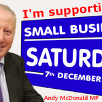 Out and about today shopping & visiting small businesses from 11.30am in Hill St. Lets make @SmallBizSatUK a success http://t.co/W5orEOa1QX