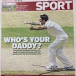 RT @SundayAgeSport: First edition cover. Come to papa. #Ashes #cricket http://t.co/7zmCs6jU2K