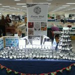All set up at national Christmas lacemakers fair, solihull @SmallBizSatUK http://t.co/GKgXy1evRj