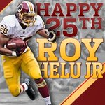 #Redskins RB @royhelujr29 turns the big 2-5 today. Hit that RT button & help us wish No. 29 a happy birthday! #HTTR http://t.co/vwQ8QaSKfb