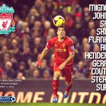 RT @LFC: Graphic showing #LFCs team news... http://t.co/sG3kVzTrnO