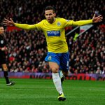 PIC! Yohan Cabaye wheels away after putting #NUFC ahead against #MUFC http://t.co/cgbAGhQx3O #TTmatchday http://t.co/zsiAP9SFod