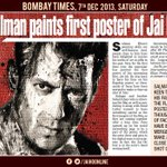 Pix * @BeingSalmanKhan paints first poster of #JaiHo http://t.co/b6ldeA2GPf