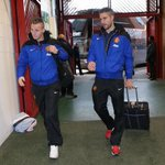 """@ManUtd: #mufc players have arrived at Old Trafford. @Persie_Official & @AlexButtner_28 were among them. http://t.co/zxPyrd1rBB"" RvP back."