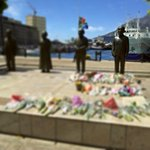 Flowers been left and tributes book signed at @VandAWaterfront http://t.co/WMe3ywI2pO
