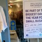Its on the door. People are taking us up on the offer. Win win. @SmallBizSatUK #shopsmartshoplocal #smallbizsatuk http://t.co/vhKC8M4Uz6