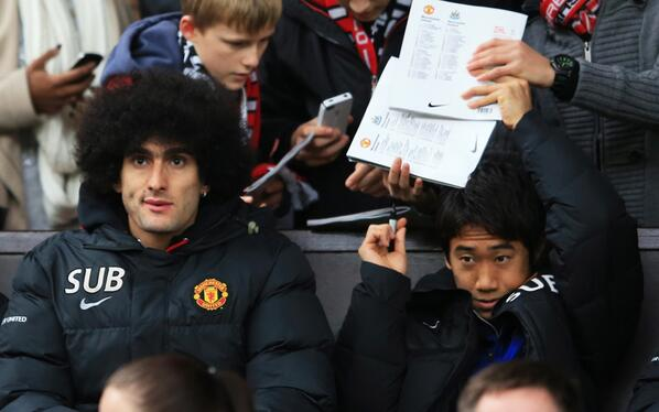 £45 million worth of footballer sitting in the stands after failing to make Manchester United's 18-man squad today http://t.co/vZjJAURdHj