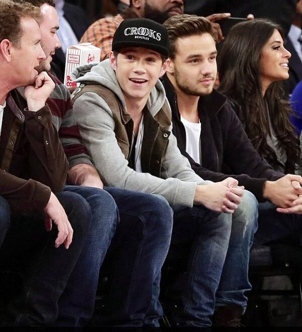 One direction's Liam and Niall courtside at Madison Square Garden http://t.co/bLZMxgj9VR