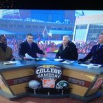 The @CollegeGameDay guys were poking fun at @finebaum about holding his ear piece. Good stuff. http://t.co/T70BCWUEOh
