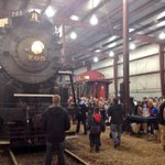 Families get the chance to get up close with @NickelPlate765 as they wait for the Santa Train! #fortwayne http://t.co/GDGMpyUfsb