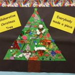 We all decorated a small triangle and then put it together to make our Collaborative Christmas Tree @GVETNS http://t.co/E1btp7Al5n