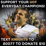 Support your EVERYDAY CHAMPIONS by texting KNIGHTS to 80077 to donate $10 #ChargeOn Terms: http://t.co/T85s3llyGn http://t.co/NrykyGrov7
