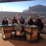 """@AlabamaFTBL: Coach Saban on the @CollegeGameDay set today. #RollTide http://t.co/d07h1XCMMB"" ROLL TIDE"