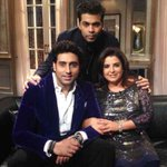 RT @karanjohar: Abhishek Bachchan and Farah Khan in the Koffee House!!!! A RIOT!!! #KoffeewithKaran.... http://t.co/MpWrOlhC2l