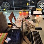 Makeshift #hackerspace now in Hamra, after the #fcm2013 internet freedom conference. Its a good day. http://t.co/3RDpfUoni6