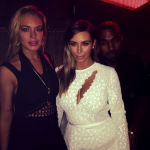 Fun night! RT @KardashianNavy: Kim and Kanye with Lindsay Lohan on Wednesday http://t.co/Vbi5RWQdbc