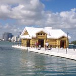 Ultimate inflatable: Kolkozs floating chalet at #miami Marine Stadium #artbasel @MiamiHerald http://t.co/lqQtvNISiA