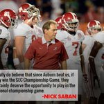 RT @SEC_Logo: Saban on Auburn: (USA Today) http://t.co/FQFpj2chGc