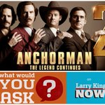 Intv'ing #Anchorman2 cast on #LKN - tweet ?s for Will Ferrell @SteveCarell @1capplegate @MeaganGood & Paul Rudd