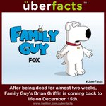 "RT @camslopezxx: ""@UberFacts: Brian Griffin is returning to Family Guy in two weeks! http://t.co/ZtntAibmOO"" @joevenq oh ayan wag ka na malungkot! 😊"