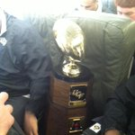 RT @UCFKnights: #ChargeOn RT @ucf_marcdaniels: The American championship trophy has its own seat http://t.co/Pn5ezMcYjW