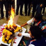 RT @pallavighcnnibn: Havan for Sheila #counting begins