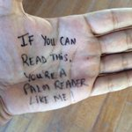 One thing people didn't know about me…I am a palm reader! http://t.co/z2HbrI4vB3