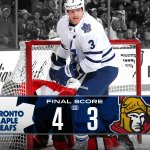 The #Leafs beat the #Senators 4-3. Reimer with 47 saves in the win. #SEAofBLUE http://t.co/NG9OBoRYvM