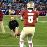 RT @_TomBlock: And last of the photos, an FSU legend. And Jameis Winston. #Noles #RedLightning http://t.co/tEH8haj7lB