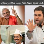 Meanwhile... When they played Rock, Paper, Scissors in Delhi... http://t.co/2r9dO6yFoi
