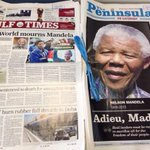 This is how newspapers in #Qatar carried the news of Nelson Mandelas death http://t.co/gWRlO000ml via @salmansid