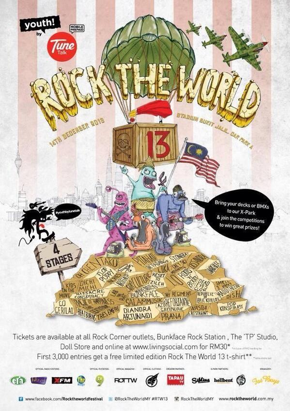 Sapa sapa nak beli tiket @RockTheWorldMY boleh datang ke studio kami @tpstudio_prod ! Rm30 sahaja!!!!!! http://t.co/8VxtYtWQww