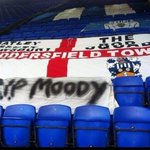 Huddersfield Town at Ipswich Town yesterday pay respect to a Leeds United fan who passed away #HTAFC #LUFC #RIPMOODY http://t.co/q6n91ofzI0