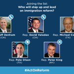We need leaders on #immigration. Will one of these five representatives will push the House to act? #ActOnReform