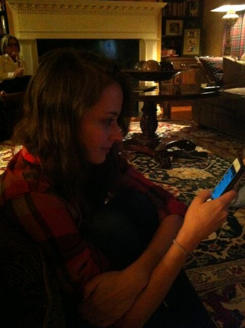 This is what @AmyAcker looks like live tweeting from upstate NY... http://t.co/eJoUjSOLoj
