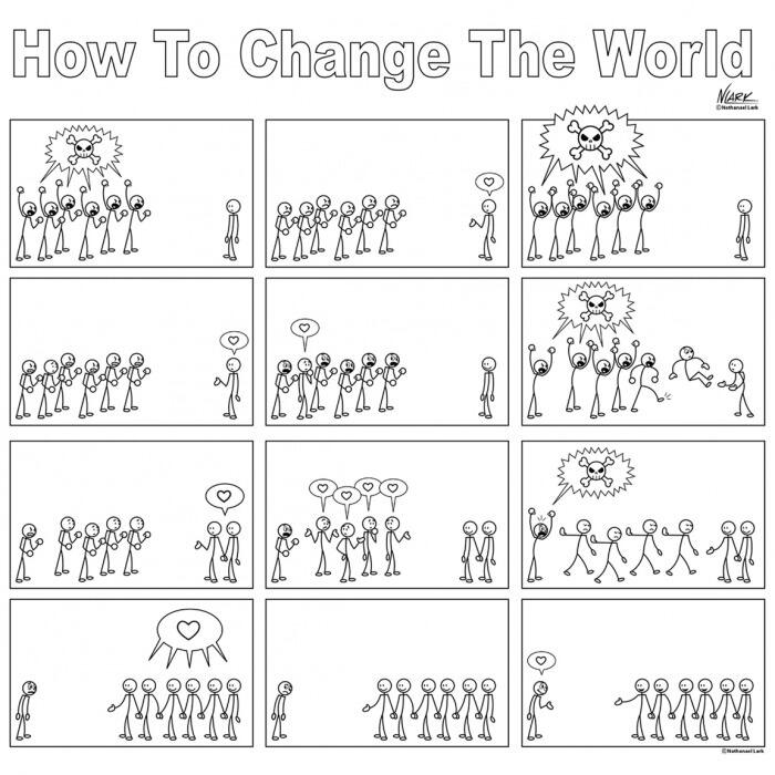 @9GAG: How to change the world. Simple as that.