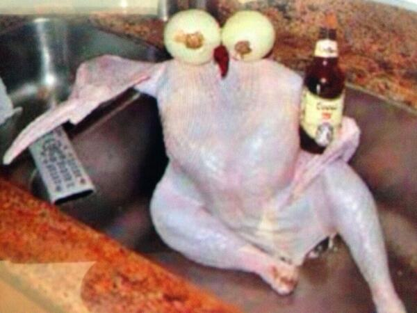 Glenda Sims (@goodwitch): Letting the turkey chill in the sink before cooking as per instructions. Happy Thanksgiving Y'all! http://t.co/tk7KbOxwy3