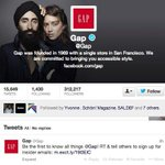 RT @prasanto: In solidarity with Sikhs, @gap changed its Twitter background to this, after a poster was defaced: