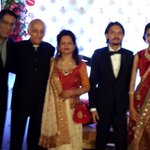 At the grand wedding reception of Mukesh Bhatt's son Vishesh with Kanika...