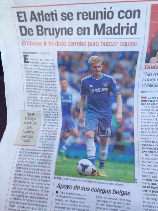 BaPRx WCQAAfugW Atletico Madrid, Leverkusen & Wolfsburg all in talks with Chelsea regarding Kevin De Bruyne January move [AS]