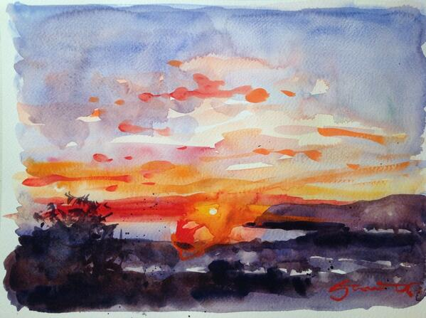 """It might be """"Black Friday"""" but it's a red hot one in my studio tonight! £120 free shipping #art #blackfridaydeals http://t.co/IqEzIBO9Tk"""