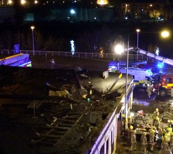 Scottish Pub Bar: Visible Damage At Scene Of Helicopter Crash