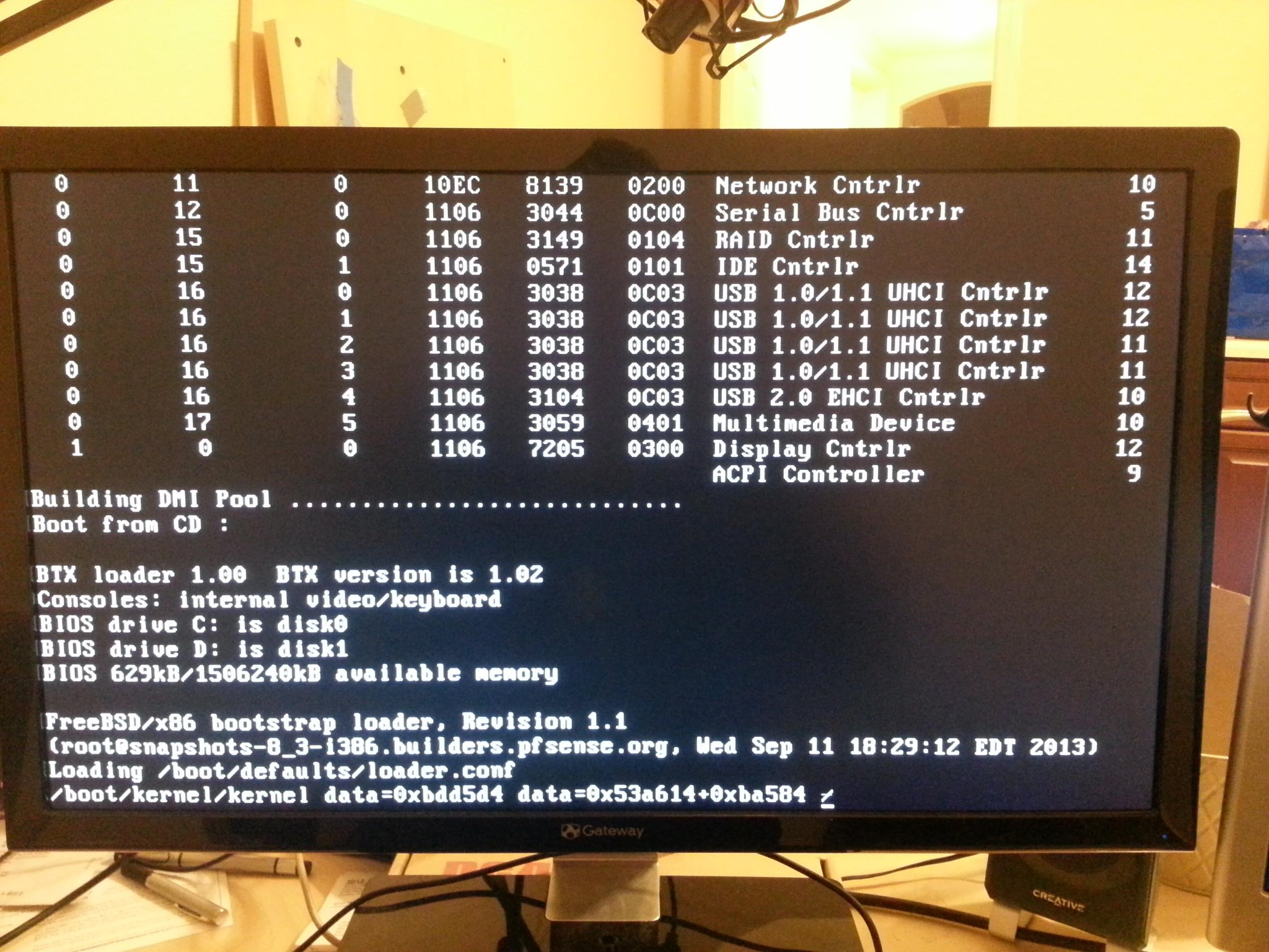 Installing #pfsense on a machine so old it shows IRQ levels when it boots http://t.co/ldaDHFivn9